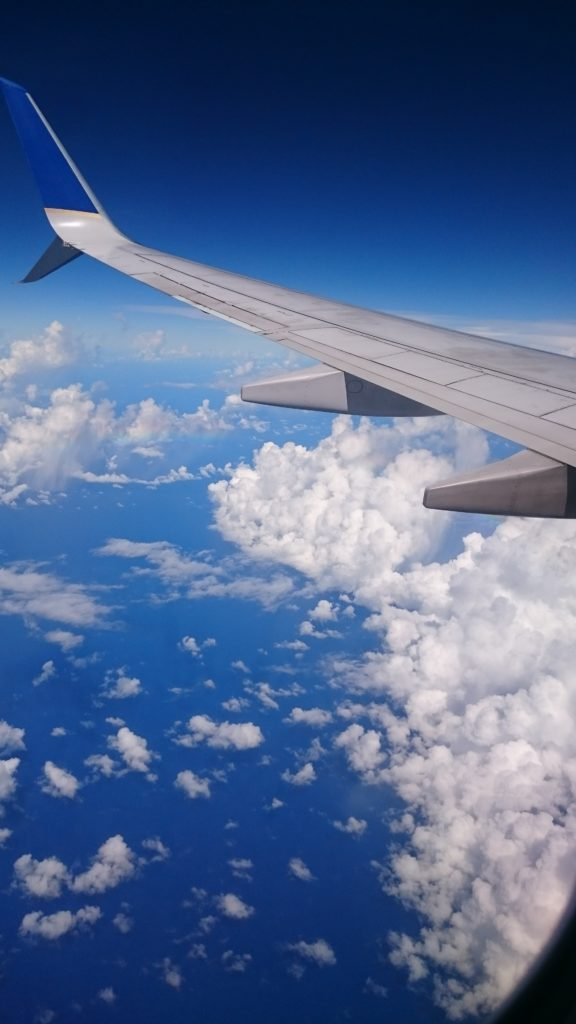 フライト 窓からの景色