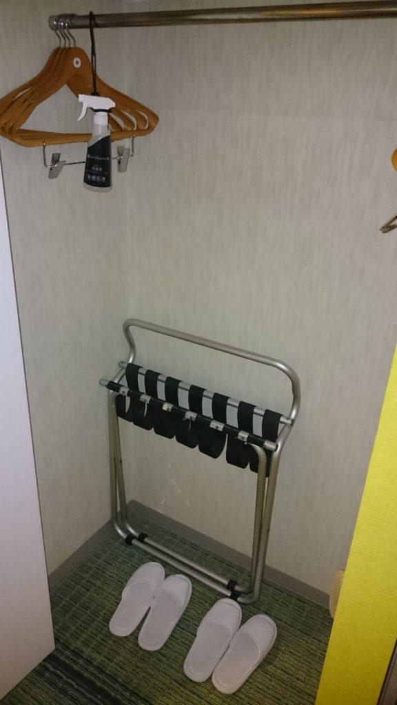 ニューオータニイン札幌 客室 ロッカー
